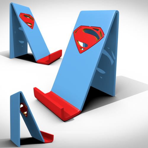 Superman support smartphone 3D Print 122743