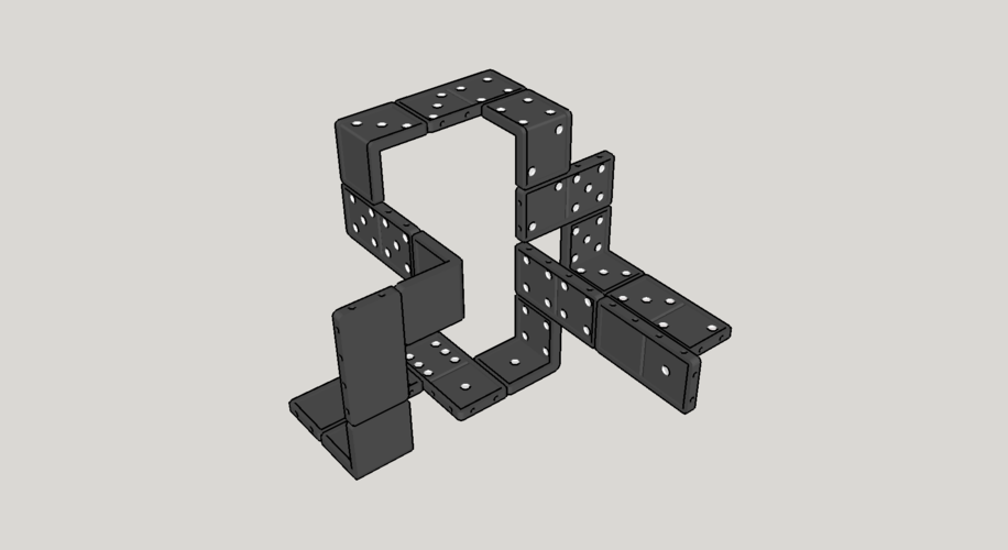 3D domino for in space 3D Print 122820