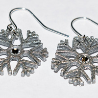 Small Snowflake Earrings 3D Printing 122826