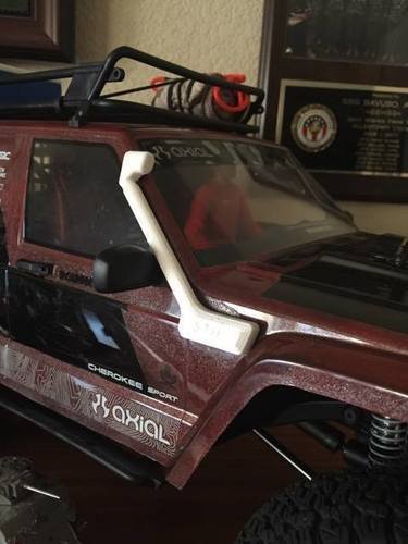 SCX-10.2 Snorkel for Cherokee Body 3D Print 122830