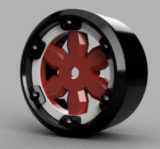"""Split Tilt"" 4 degree Stanced Drift Wheel 3D Print 122855"