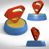 Small Superman symbole 3D Printing 122900