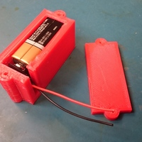 Small 9V Battery Holder 3D Printing 122913