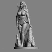 Small Elf Girl 3D Printing 123061
