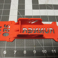 Small V2 Walkera Runner 250 Bottom Plate/ Frame & Battery Brace 3D Printing 123076