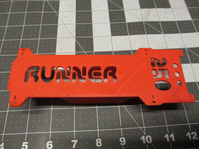 V2 Walkera Runner 250 Bottom Plate/ Frame & Battery Brace 3D Print 123078