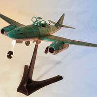 Small Messerschmitt Me 262 Model 3D Printing 12310