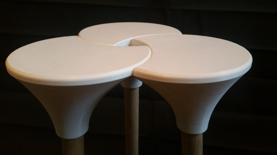 Cluster (the full size) Stool 3D Print 123144