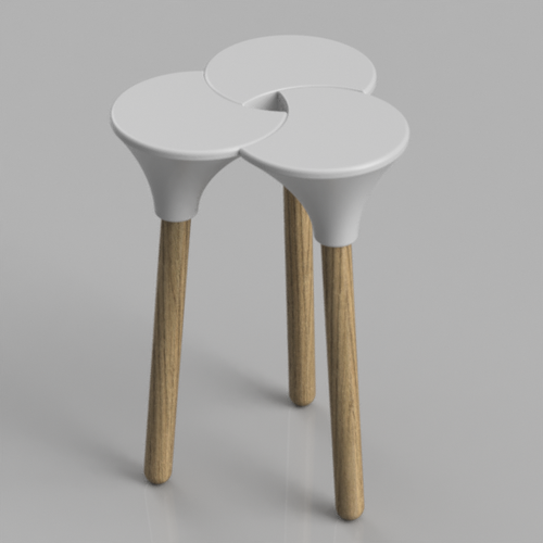 Cluster (the full size) Stool 3D Print 123146