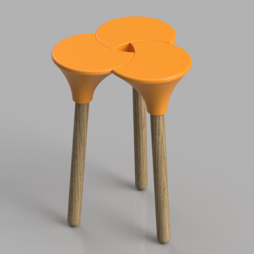 Cluster (the full size) Stool 3D Print 123149