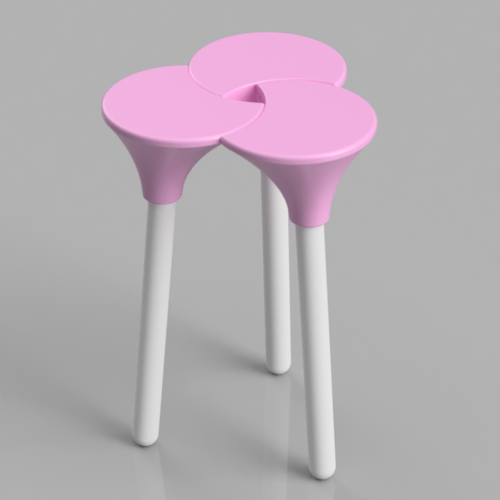 Cluster (the full size) Stool 3D Print 123150