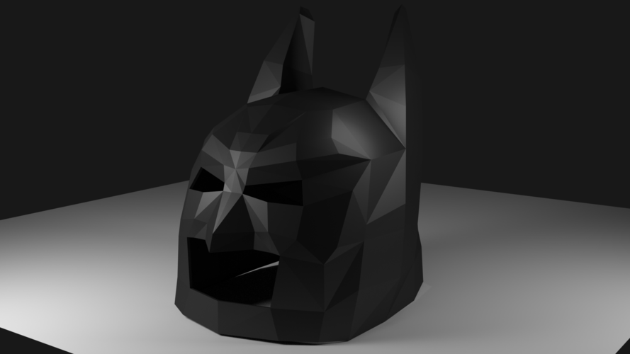 Low Poly Batman Mask 3D Print 123211