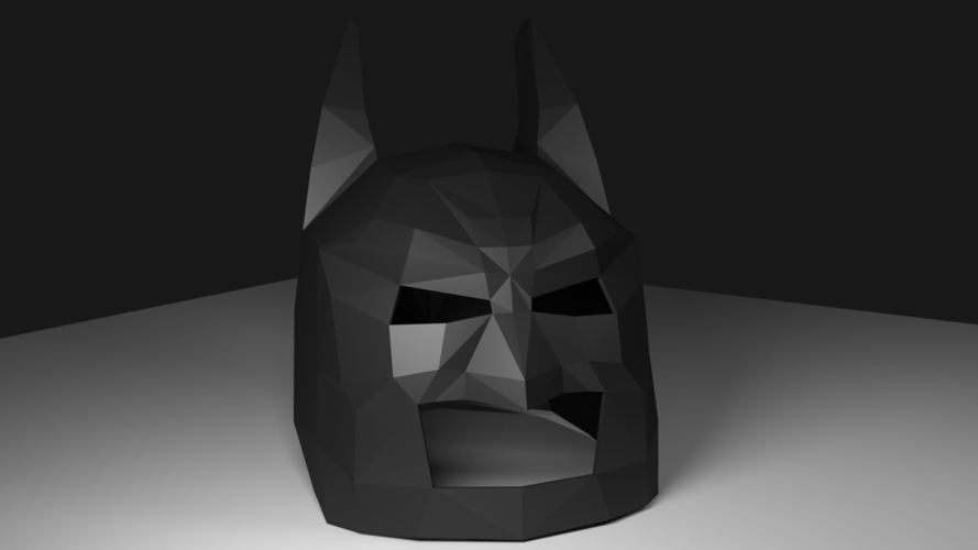 Low Poly Batman Mask 3D Print 123212