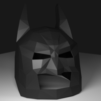 Small Low Poly Batman Mask 3D Printing 123212