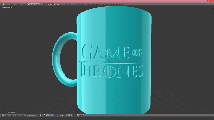 Game Of Thrones Arryn Coffee Mug 3D Print 123257
