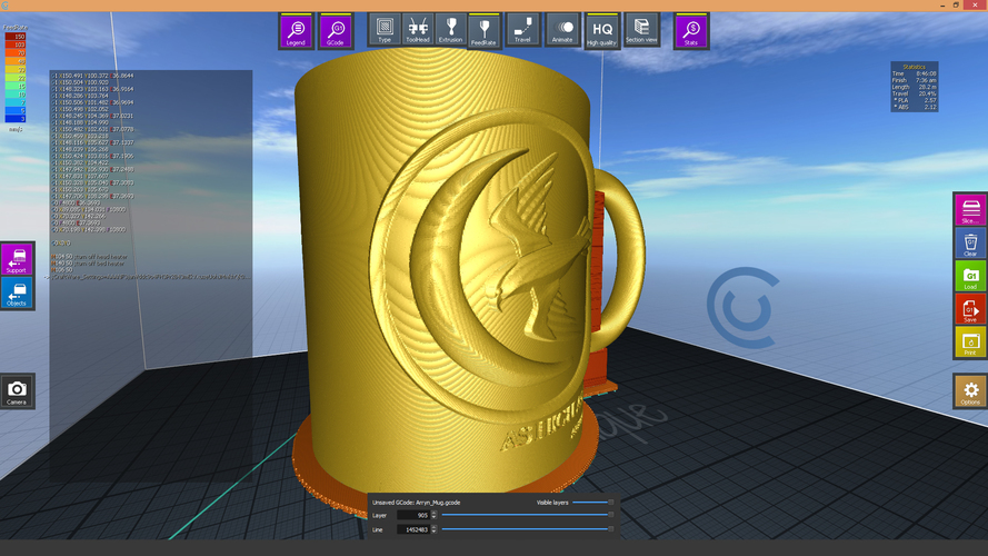 Game Of Thrones Arryn Coffee Mug 3D Print 123260