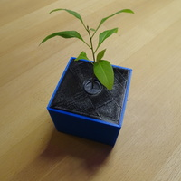 Small space plant pot 3D Printing 123342