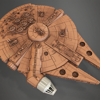 Small Millenium Falcon 3D Printing 123375