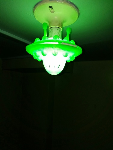 Flying Saucer LED lightbulb fixture 3D Print 123392
