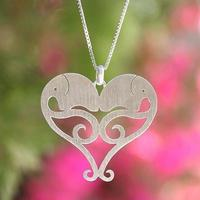 Small Pendant Elephant Heart 3D Printing 123471
