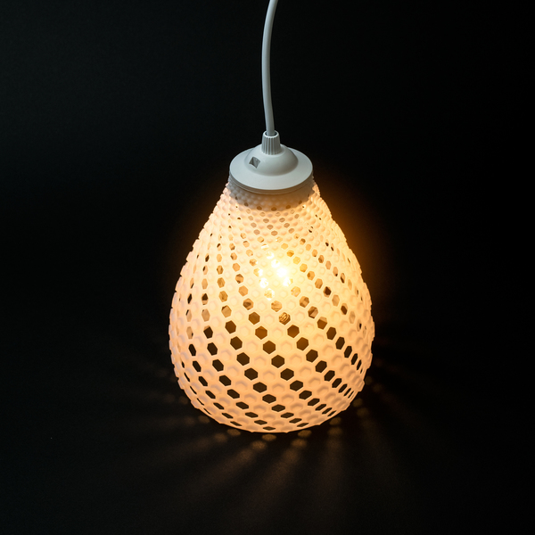 Medium FIBONACCI LAMP SHADE 3D Printing 123485