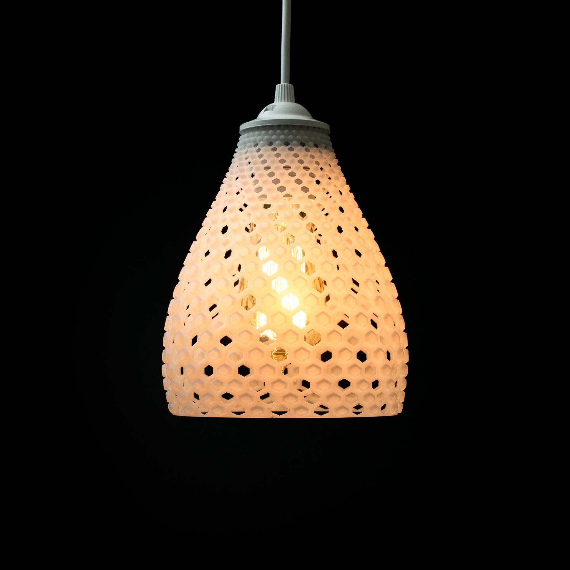 3d printed fibonacci lamp shade by voood pinshape arubaitofo Image collections