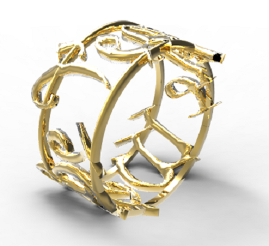 We The People Ring 3D Print 123520
