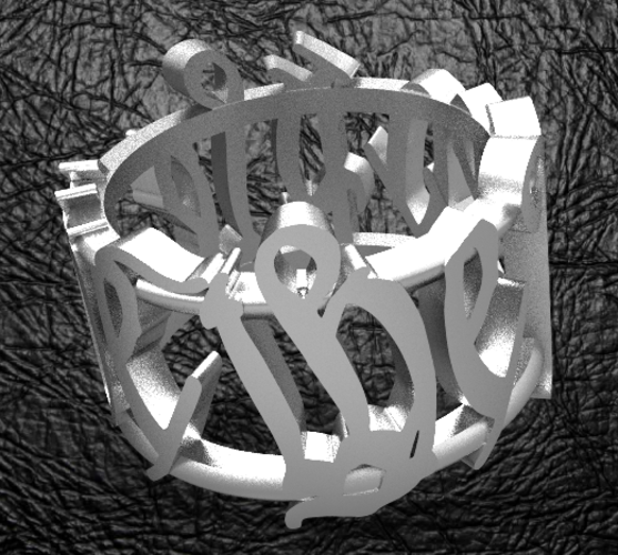 We The People Men's Ring 3D Print 123657