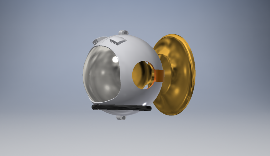 Space Helmet Door Knob Cover 3D Print 123761
