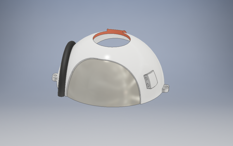 Space Helmet Door Knob Cover 3D Print 123766