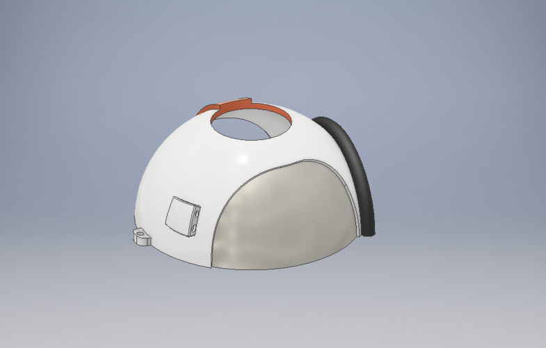 Space Helmet Door Knob Cover 3D Print 123767