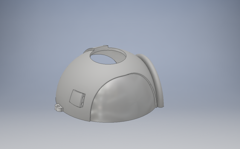 Space Helmet Door Knob Cover 3D Print 123769