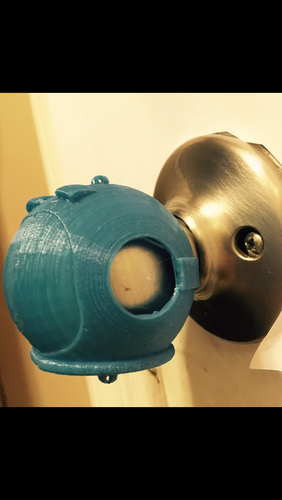 Space Helmet Door Knob Cover 3D Print 123773