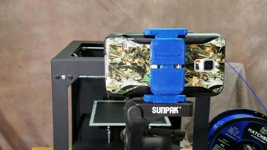 Adjustable Cell Phone Tripod Mount 3D Print 123789