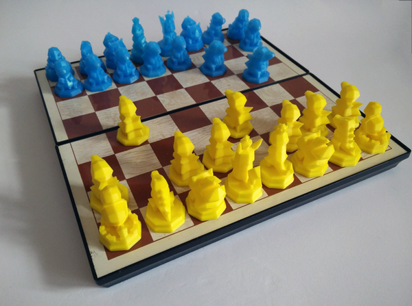 Medium Pokemon Chess Set (Magnetic) 3D Printing 123829