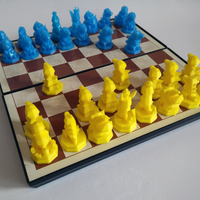 Small Pokemon Chess Set (Magnetic) 3D Printing 123829