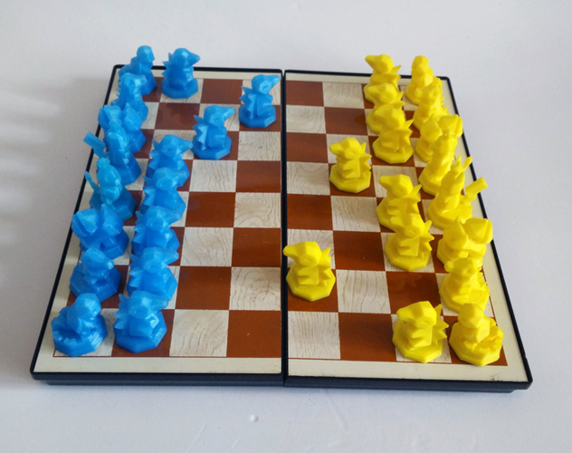 Pokemon Chess Set (Magnetic) 3D Print 123830