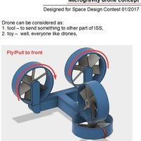 Small Microgravity drone concept 3D Printing 123882