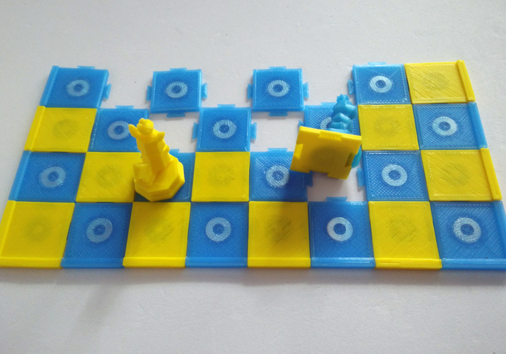 Pokemon Chess Set (Magnetic) 3D Print 123899