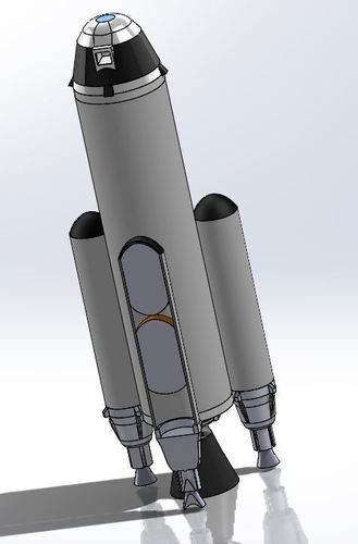 Low Space Orbit Rocket  3D Print 123929