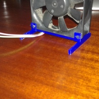 Small 80mm computer fan stand 3D Printing 123974