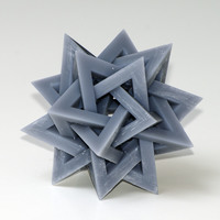 Small Five Hollow Tetrahedra 3D Printing 123990