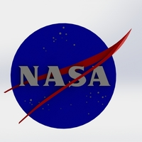 Small NASA badge 3D Printing 124011