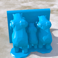 Small Bears family 3D Printing 124213
