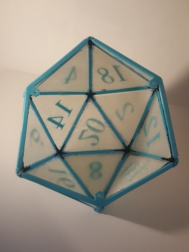 DIY D20 Ceiling Lamp Shade 3D Print 124254