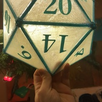 Small DIY D20 Ceiling Lamp Shade 3D Printing 124255