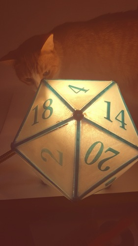 DIY D20 Ceiling Lamp Shade 3D Print 124256