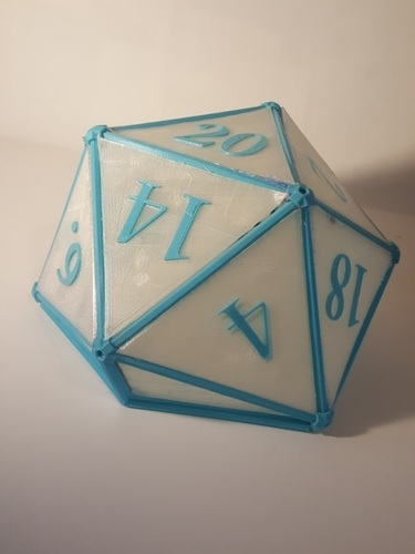 DIY D20 Ceiling Lamp Shade 3D Print 124257