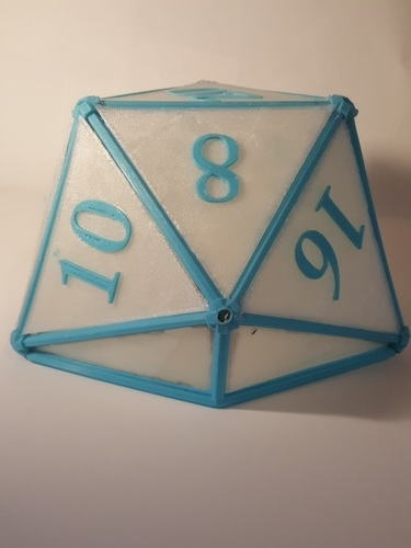 DIY D20 Ceiling Lamp Shade 3D Print 124258