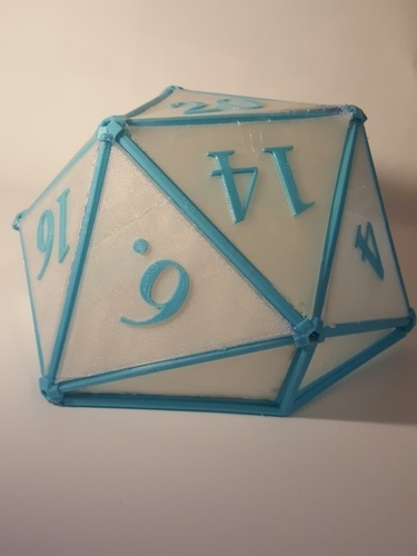 DIY D20 Ceiling Lamp Shade 3D Print 124259
